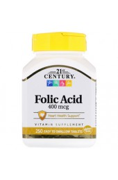 21st Century Folic Acid 400 мкг 250 таблеток