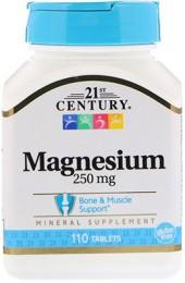 21st Century Magnesium 250 мг 110 таблеток В НАЛИЧИИ