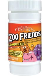 21st Century Zoo Friends Complete для детей 60 жевательных таблеток В НАЛИЧИИ