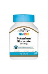 21st Century Potassium Gluconate 595 мг 110 таблеток В НАЛИЧИИ