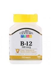 21st Century B-12 500 мкг 110 таблеток В НАЛИЧИИ