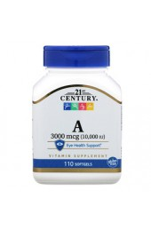 21st Century Vitamin A 10,000 МЕ 110 капсул ПРЕДЗАКАЗ*