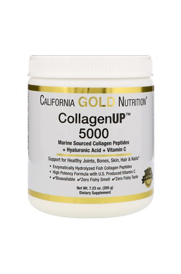 California Gold Nutrition CollagenUP 5000 + Hyaluronic Acid 204 г