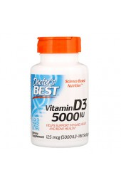 Doctor's Best Vitamin D3 5000 МЕ 180 гелевых капсул