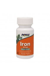 NOW Iron 18 мг 120 вегетарианских капсул ПРЕДЗАКАЗ