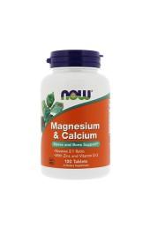 NOW Magnesium & Calcium 100 таблеток В НАЛИЧИИ