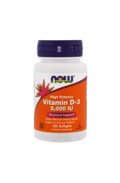 NOW Vitamin D3 5000 IU 120 гелевых капсул