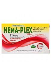 Nature's Plus Hema-Plex 30 таблеток с длительным высвобождением