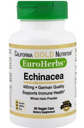 California Gold Nutrition Echinacea 400 мг 60 капсул В НАЛИЧИИ