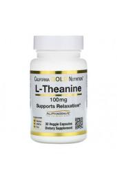 California Gold Nutrition L-Theanine 100 мг 30 капсул В НАЛИЧИИ