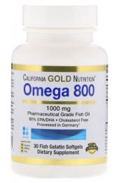 California Gold Nutrition Omega 800 мг 30 капсул В НАЛИЧИИ
