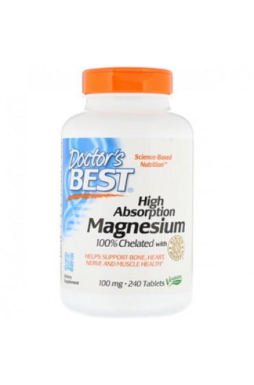 Doctor's Best Magnesium 100% хелатный 240 таблеток