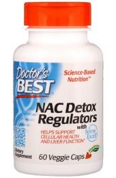 Doctor's Best NAC Detox Regulators 60 растительных капсул