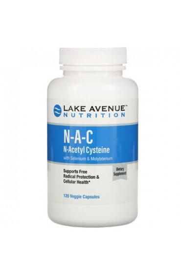 Lake Avenue NAC, N-Acetyl Cysteine 600 мг 120 капсул ПРЕДЗАКАЗ
