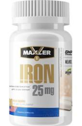 Maxler Iron 25 мг Bisglycinate Chelate 90 вегетарианских капсул
