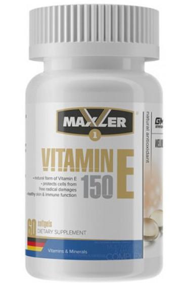 Maxler Vitamin E Natural form 150 мг 60 гелевых капсул