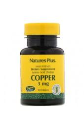 Nature's Plus Copper 3 мг 90 таблеток