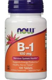 NOW B-1 100 mg 100 таблеток В НАЛИЧИИ