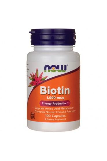 NOW Biotin 100 капсул ПРЕДЗАКАЗ