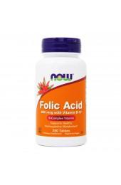 NOW Folic Acid plus vitamin B12 800 мг 250 таблеток В НАЛИЧИИ