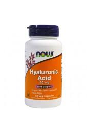 NOW Hyaluronic Acid 50 мг plus MSM 60 капсул В НАЛИЧИИ