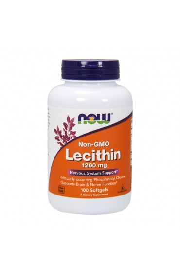 NOW Lecithin 1200 мг 100 гелькапсул В НАЛИЧИИ