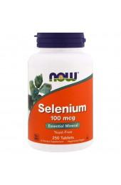 NOW Selenium 100 mcg 250 таблеток ПРЕДЗАКАЗ*