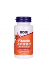 NOW Vitamin D3&K2 120 капсул В НАЛИЧИИ