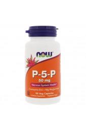 NOW P-5-P (пиридоксальфосфат) 50 мг 90 вегетарианских капсул