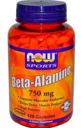 NOW Beta Alanine 750 мг 120 капсул