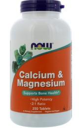 Now Calcium & Magnesium 250 таблеток В НАЛИЧИИ