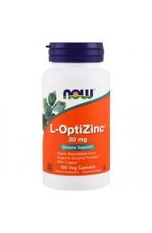 NOW L-OptiZinc 30 мг 100 капсул ПРЕДЗАКАЗ