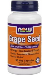 NOW Grape Seed Anti 60 мг 90 капсул