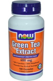 NOW Green Tea 100 капсул