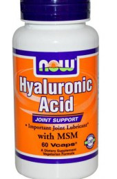 NOW Hyaluronic Acid 50 мг plus MSM 60 капсул
