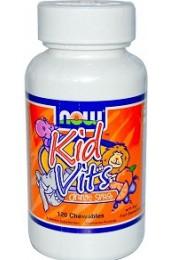 NOW Kid Vits 120 жевательных таблеток