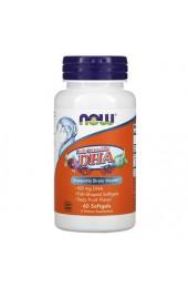 NOW Kid's DHA 100 мг 60 жевательных капсул