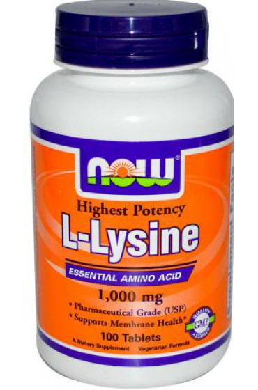 NOW L-Lysine 1000 mg 100 таблеток