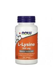 NOW L-Lysine 500 mg 100 таблеток
