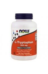 NOW L-Tryptophan 500 мг 120 вегатарианских капсул