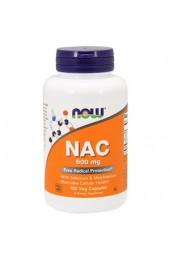 NOW NAC 600 мг 100 вегетарианских капсул