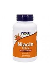 NOW Niacin 500 мг 100 капсул В НАЛИЧИИ