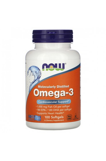NOW Omega-3 1000 мг 100 гелевых капсул