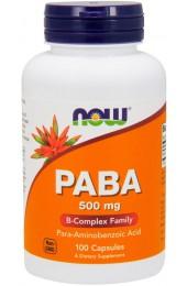 NOW PABA 500 мг 100 капсул В НАЛИЧИИ