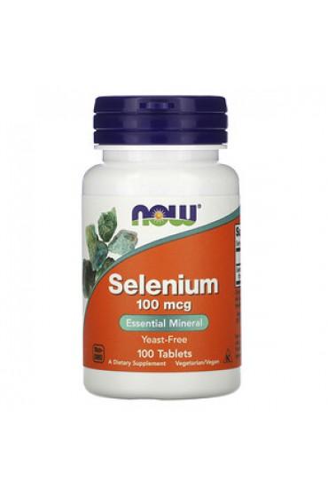 NOW Selenium 100 mcg 100 таблеток
