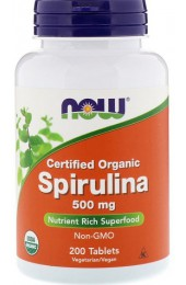 NOW Spirulina 500 мг 200 таблеток