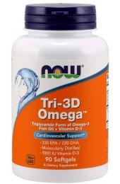 NOW Tri-3D Omega 90 капсул ПРЕДЗАКАЗ*