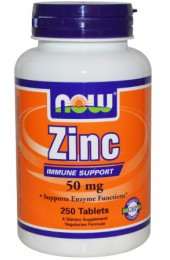 NOW Zinc 50 мг 250 таблеток